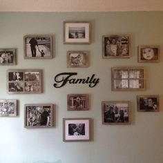 Family Gallery Wall In 2019 Home Decor Family Pictures Modern Picture Wall Idea. Family Pictures On Wall, Room Pictures, Family Picture Walls, Family Wall Collage, Family Wall Decor, Wall Decor Pictures, Displaying Family Pictures, Family Room, Family Photo Frames