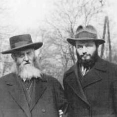The rebbe and the grand old Rebbe of Chabad