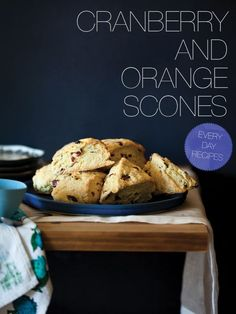 Cranberry and Orange Scones. A great recipe for making cranberry and orange scones. Sweet and buttery scones filled with sour dried cranberries and orange zest.
