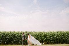 Ohio cornfield wedding