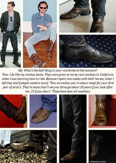 Tom. Hiddleston. Wears. Legit. Cowboy. Boots. And I thought he could not get any more attractive.
