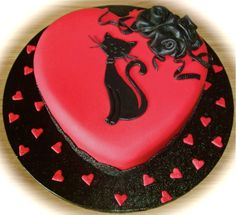 Valentine's cake (by fuddle) ♥ Cupcakes, Cake Cookies, Cupcake Cakes, Pretty Cakes, Beautiful Cakes, Amazing Cakes, Mini Tortillas, Heart Cakes, Valentines Day Cakes