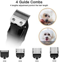 XPUTI Dog Grooming Clippers Rechargeable Low Noise Cordless Upgrade Heavy Duty Electric Cat Dog Grooming Kit for Thick Dog Grooming Clippers, Grooming Kit, Beard Trimming, High Carbon Steel, Large Animals, Blade, Juice, Smooth, United States