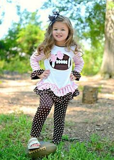 Stripes & Polka Dots Football Pants Set, $29.95: http://www.sparklyexpressions.com/