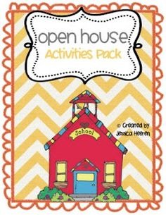 Open House/Back To School Packet
