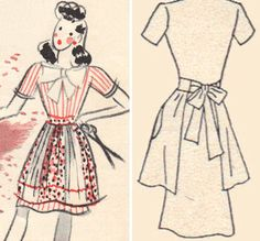 Free vintage-style apron patterns from TipNut
