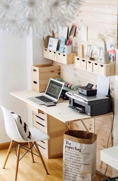If you only have a small corner, then this is one way to keep the space clear of clutter with style ☺