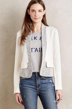 NEW ANTHROPOLOGIE Size XS $128 Sheridan Jacket Dolan Left Coast Neutral USA NWT #Anthropologie #Blazer