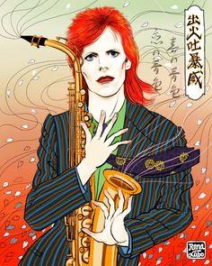 #zig zag #he loves his saxophone he loves it #art