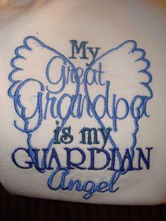 Great Grandpa Guardian Angel Onsie or Shirt by Nannasinspirations, $20.00