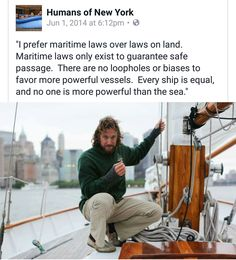 Humans of New York, maritime laws