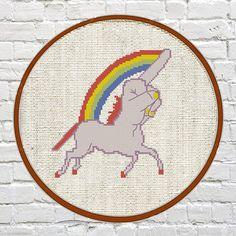 cross stitch pattern funny unicorn cross stitch pattern cross