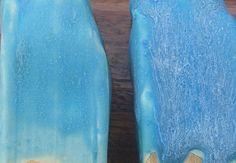 Barium Blue  Cone: 6 Color:  Firing: Oxidation Surface: Matte  Amount Ingredient 30 Barium Carbonate 65 Nepheline Syenite 7 Ball Clay--Old Mine #4 8 Silica  110 Total  Additives 3 Lithium Carbonate 3 Copper Carbonate Substituted 30 Strontium for barium Carb. (gram for gram) on left