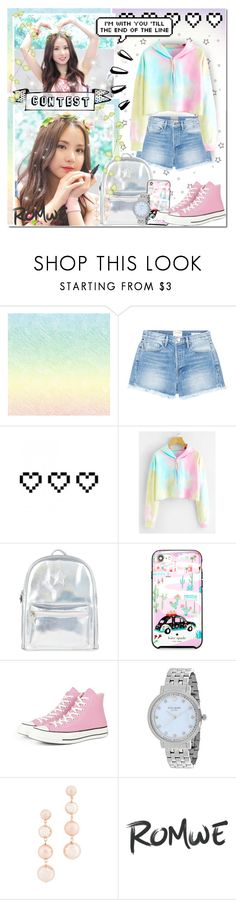 """""""Rainbow Tie-Dye [Contest]"""" by angelstylee ❤ liked on Polyvore featuring Frame, Retrò, Old Navy, Accessorize, Kate Spade, Converse and Rebecca Minkoff"""