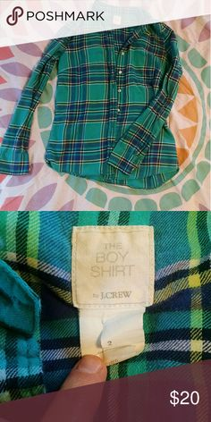 BOGO! JCrew Boyfriend Flannel BOGO: Pick an equal or lesser price item for FREE! Must COMMENT! DO NOT USE BUNDLE BUTTON!  Great condition! J. Crew Tops Button Down Shirts