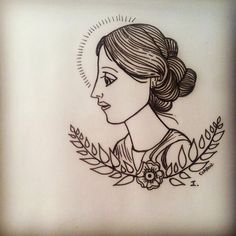 Virginia woolf #tattooflash #literarytattoo #virginiawoolf #writertattoo #delsueñoalapiel