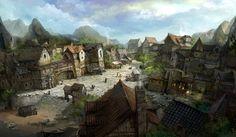 village Jeon min seok Fantasy town Fantasy village Fantasy city