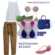 Battiquore Milano by m-valentina on Polyvore featuring moda, Zara, H&M, MICHAEL Michael Kors, Michael Kors and Sunday Somewhere