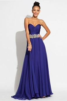 Tulle Layers Embroidery Sash Half Backless Prom Dress -USD $139.99