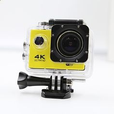 Sports Camera 4K  WIFI Waterproof Action Camera High Defenition 2.0 Inch Sports DV 360 Degree Sport Camera Yellow – CAD $ 41.69