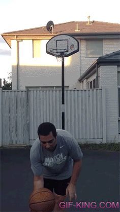An Incredible No-Look Basketball Shot