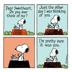 Love letter from Snoopy