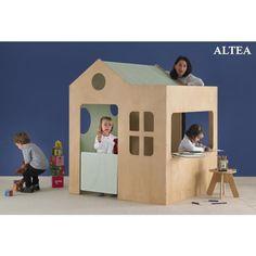 Maisonnette-jeux d'intérieur pour les tout petits (à partir d'un an). Une maisonnette pour les enfants dans celle des grands.  Pour créer leur propre univers, jouer, accueill