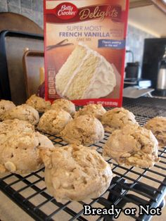 Bready or Not: Maple Krispy Cookies. Uses cake mix.