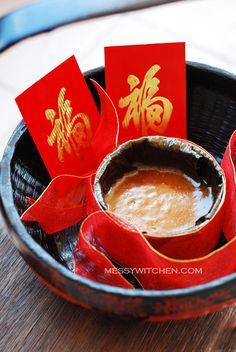 Chinese New Year Ti Kuih (Nian Gao-Sweet Sticky Rice Cake-Kuih Bakul)