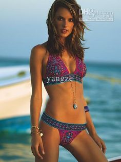 Wholesale 2013 New Sexy Women Bikini Set Indian Totem Printing Swimwear Padded Retro V-neck Swimming Swimsuit, Free shipping, $12.73/Piece | DHgate Mobile