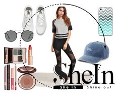 """Shein"" by hanani-nur ❤ liked on Polyvore featuring Vans, Ray-Ban, SO and Charlotte Tilbury"