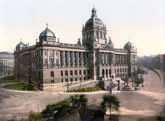 The museum of Prague around 1900 Vintage Architecture, Architecture Drawings, Historical Architecture, Architecture Design, Prague Photos, Heart Of Europe, Austro Hungarian, Museum, History Photos