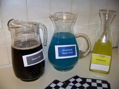 Great drink ideas for your next NASCAR party.