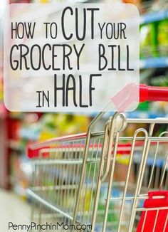 How to Cut your Grocery Bill in Half! The biggest impact on most budgets (outside of rent or mortgage) is groceries. The average family spends $250 or more every single week on food! That does not have to be the norm for you. Learn my simple tips on how t