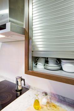 1000 images about mueble persiana en la cocina on - Persianas para cocina ...