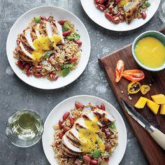 Grilled Mango-Habanero Jerk Chicken | MyRecipes.com #myplate #protein