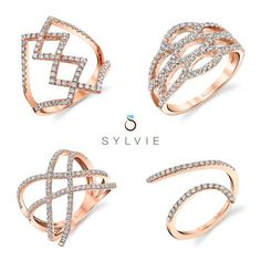Fashion Rings from Sylvie Collection!