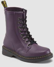Dr. Martens Drench purple vulcanized rubber boot. Perfect rain boots