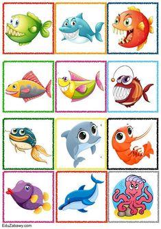 Znaczki przedszkolne – Podwodny świat Classification, Teaching Kids, Habitats, Crafts For Kids, Clip Art, Kids Rugs, Education, Infant Games, Activities