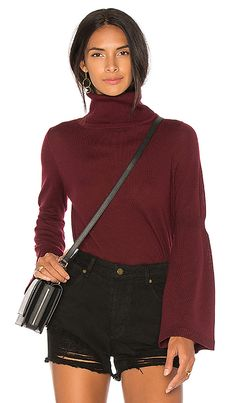 Shop for 525 america Merino Tulip Sleeve Turtleneck in Black Cherry at REVOLVE. Free 2-3 day shipping and returns, 30 day price match guarantee.