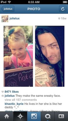 Mitch lucker daughter one direction