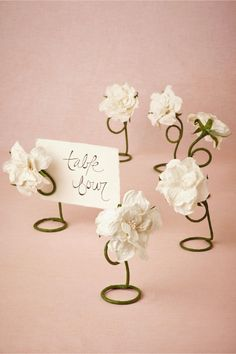 Petaled Place Card Holders (6) from BHLDN