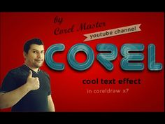 CorelDraw Tutorial: How to make Cool text Effect