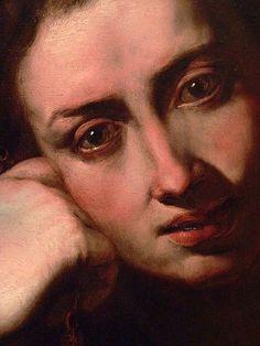 Penitent Magdalene (detail) by Jusepe De Ribera Spain 1611 Oil on Panel