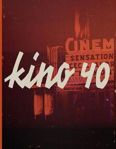 Typographie : Elle est gratuite et elle s'appelle « KINO 40 »