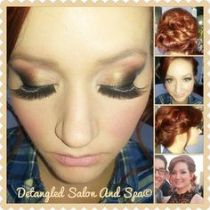#airbrush #makeup #smokey #eye #updo #red #hair #wedding