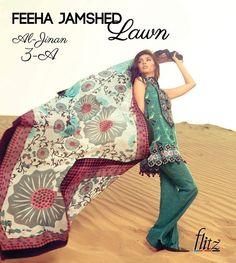 Feeha Jamshed Lawn Dresses FLORANCE OF ARABIA 2016