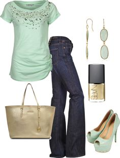 """""""Date night"""" by honeybee20 on Polyvore. Love this look, but afraid to try it."""