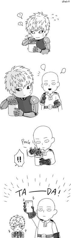 Anime,аниме,OnePunchMan,Saitama,Genos
