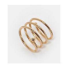 ASOS Cluster Ring (1.030 RUB) via Polyvore featuring jewelry, rings, gold, cluster ring, asos rings, asos jewelry, adjustable rings and steel jewelry